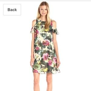 TAYLOR Cold Shoulder floral dress